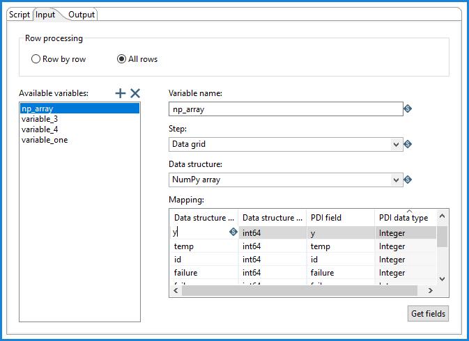 Input tab in Python             Executor