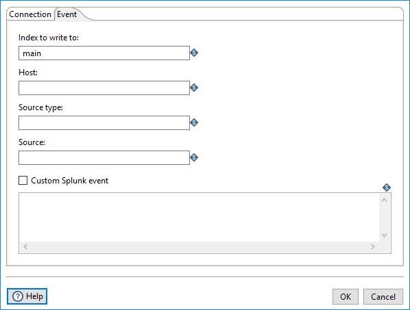 Event tab, Splunk Output